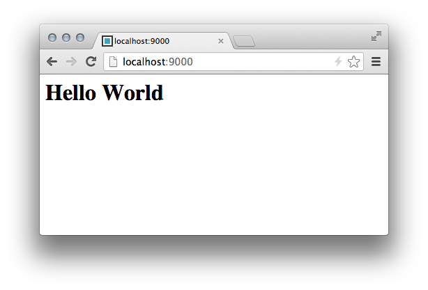 "Harp ""Hello world"" in the browser"
